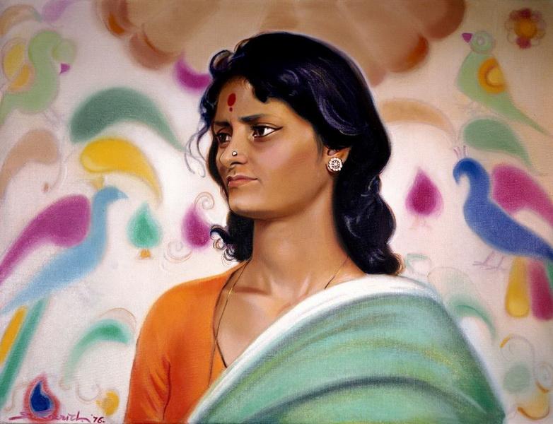 С.Н. Рерих.  Студия (этюд) В (Джайя). 1976